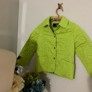 Burberry quilted jacket for girls